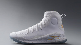 Curry 4 White/Gold Colorway