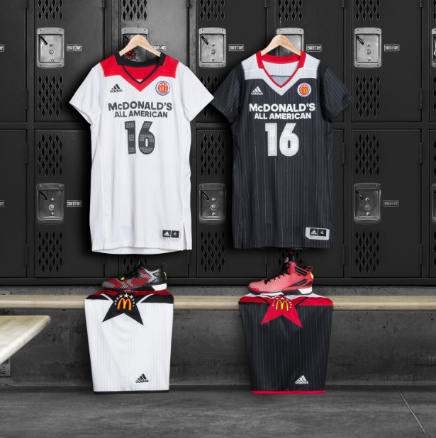 adidas McDonald's All-American Game Jerseys