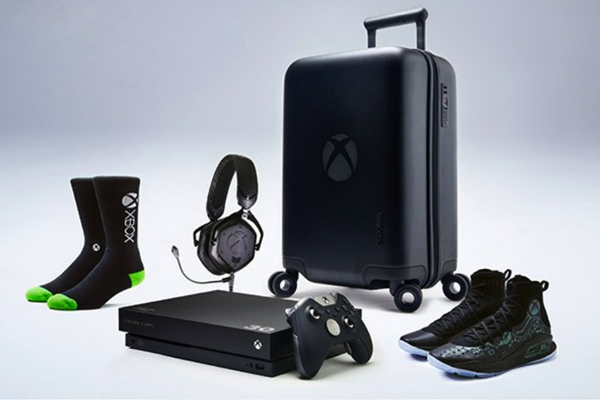 """80dbe6937c4e ... """"More Power"""" Curry 4 VIP Kit. XBox One X. In partnership with Stance"""