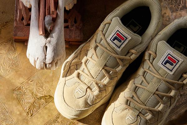 fila spaghetti low tan shoes